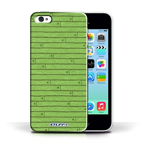 KOBALT® Hülle Case für Apple iPhone 5C   Türkis Entwurf   Holz-Muster Kollektion Grün