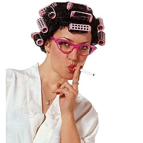Perücke Hausfrau mit Lockenwicklern Damen Hausfrauen Hausfrauenperücke Putzfrau Putzfrauenperücke Fasching (Perücke Mit Lockenwicklern)