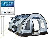 CAMPFEUER Tunnelzelt, Modell:2015, 4 Personen Campingzelt, 1. Platz als TESTSIEGER im Vergleich, Familienzelt mit 5000 mm Wassersäule, Blau / Grau