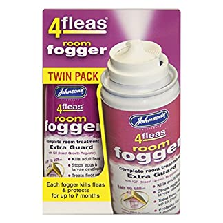 Johnson's Vet 4 Fleas Room Fogger Spray Twin Pack 51lFRjDwhPL