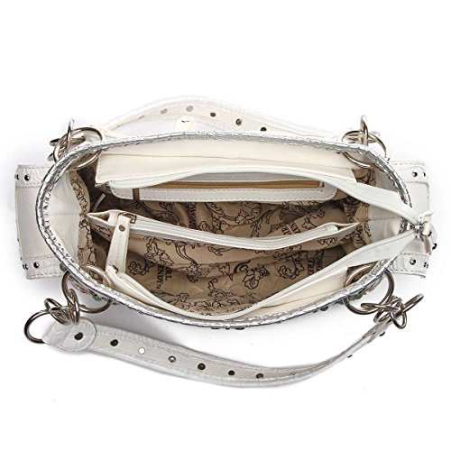 Western Cross Schultertasche bag-white