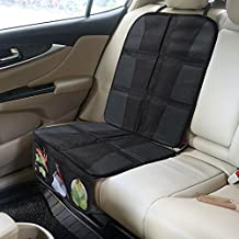 Rovtop Protector de asiento de coche Antideslizante con organizador bolsillos Tamaño universal para los asientos de coche de bebé y niño de alta resistencia