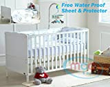 MCC Wooden Baby Cot bed Cotbed Toddler Bed & Premier Water repellent Mattress Made in England