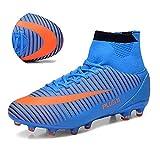 ASHION Calcio Scarpe da uomo Teenager dedicato scarpe da calcio (blu, 43 EU)