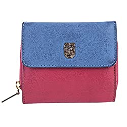 CHUMBAK Maroon & Blue Womens Wallet