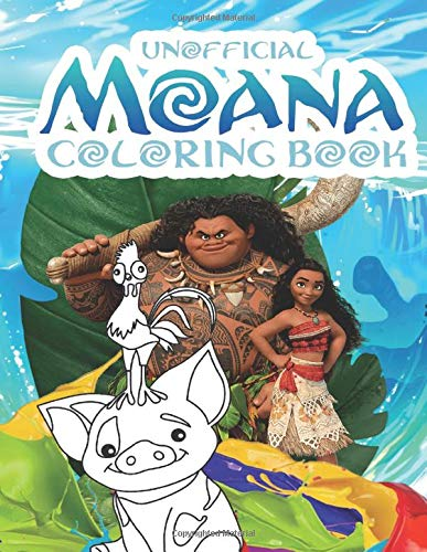 Moana Coloring Book: Awesome Coloring Book For Kids Ages 4-12