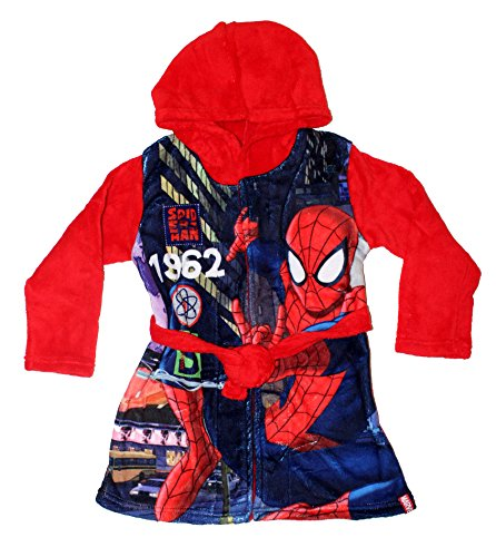 Robe de Chambre Matière Douce Super-Héros Garçon-Rouge- 8 ans