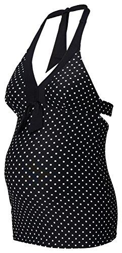 NOPPIES Vêtements de grossesse Haut de tankini Dot Black