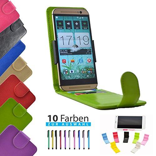 4 in 1 set ikracase Slide Flip Hülle für PHICOMM ENERGY 4S Smartphone Tasche Case Cover Schutzhülle Smartphone Etui in Grün