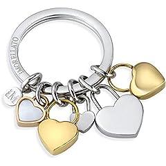 Idea Regalo - portachiavi donna gioielli Morellato LOVE HEART CHARMS YG WHI STO trendy cod. SD7130