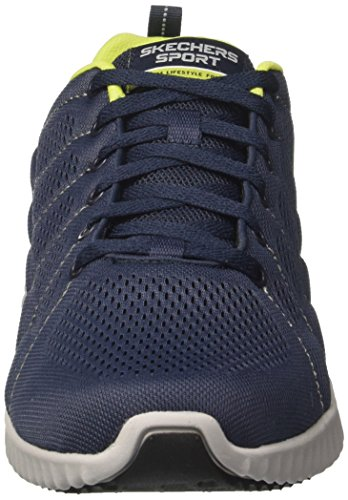 Skechers Ascent-Sherrod, Baskets Homme Bleu (Navy/lime)