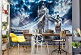 Wallsticker Warehouse Stadt London Tower Bridge Fototapete - Tapete - Fotomural - Mural Wandbild - (847WM) - XL - 208cm x 146cm - VLIES (EasyInstall) - 2 Pieces