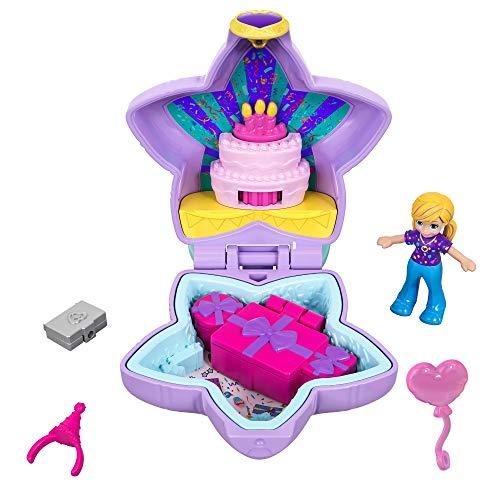 Polly Pocket Mini Cofre Fiestad de cumpleaños sorpresa,...