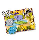 Best Melissa And Doug Toys - Melissa & Doug Safari Chunky Wooden Puzzle,Multicolor Review
