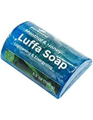 Luffa Barre de savon pour nettoyer les taches sombres salissures tenaces à partir de gommage Corps Savon Eclaircissant Peau avec Menthol et miel d'aromathérapie par Puretural