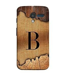 Motorola Moto X, Motorola Moto X (1st Gen) XT1052 XT1058 XT1053 XT1056 XT1060 XT1055 Back Cover Alphabet B On Wooden Plank Design From FUSON