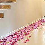 Rureng Schlafzimmer Wohnzimmer Dekorative Bodenbeläge Entfernen Können Wasserdicht 3D Rosa Rose Wand Aufkleber.