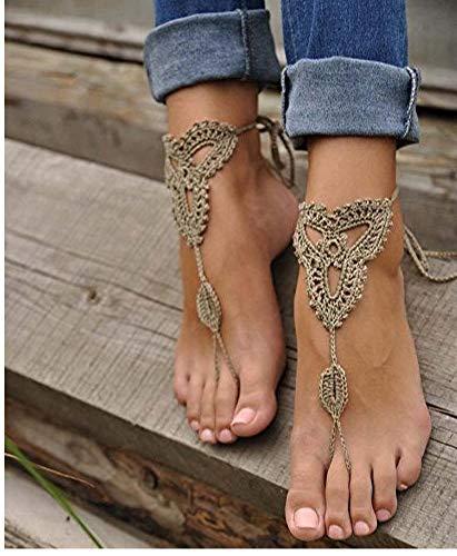 Sandali a piedi nudi, beach pool, scarpe nude, gioielli piedi, sandali footless, gioielli da sposa, catena yoga, calzino, scarpe da sposa, matrimonio sulla spiaggia, pattini di estate, taglia unica