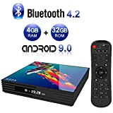 Android TV Box,A95X R3 Android 9.0 TV Box 4GB RAM/32GB ROM H6 Quad-Core Support 2.4Ghz/5.0Ghz WiFi 4K HDMI DLNA 3D Smart TV Box