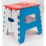 Fastunbox Adjustable Foldable Stepping Stool Non Slip Pick N Move Table for Kids Adults Kitchen Bathroom Garden Big Stool Table (Small Stool)