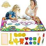MMTX Tappetino per Disegno ad Acqua, Tappeto per Tappetino per Graffiti Graffiti Scrittura Bordo di Scarabocchio, Giocattolo educativo Ideale e Regalo di Compleanno per Bambini, Ragazzi e Ragazze