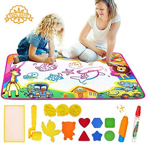 gs Matte, Große Magische Doodle Malmatte Malerei Leinwand Graffiti Pad Schreiben Scribble Board, Ideale Pädagogische Spielzeug für Kinder, Jungen und Mädchen(31,5