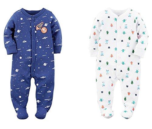 Carters Sleeper (Carter's Baby Boys Snap up Cotten Sleeper Set of 2 (6 Month))