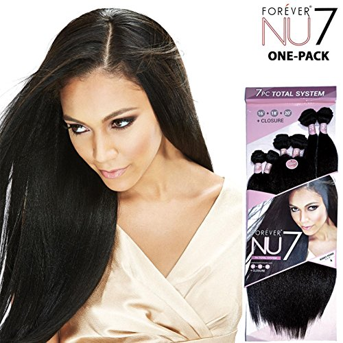 Galons de (6 Pack complet + Closure) Bobbi Boss Forever Nu 7 – Kinky Perm – Weave