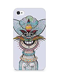 Amez designer printed 3d premium high quality back case cover for Apple iPhone 4 (Cat)