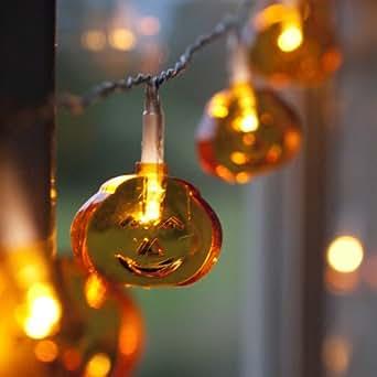 Guirlande Lumineuse Halloween à Piles avec 20 Citrouilles LED par Lights4fun