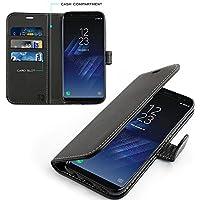 KingShark Samsung Galaxy S7 Hülle, [Ständer Funktion] Samsung Galaxy S7 Schutzhülle, Premium PU Leder Flip Tasche Case mit Integrierten Kartensteckplätzen und Ständer für Samsung Galaxy S7- Schwarz