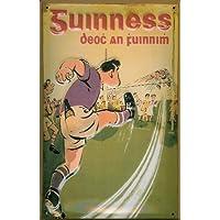 Soggetto Calcio 40 x 30 cm Guinness Football birreria birra pubblicità retrò scudo