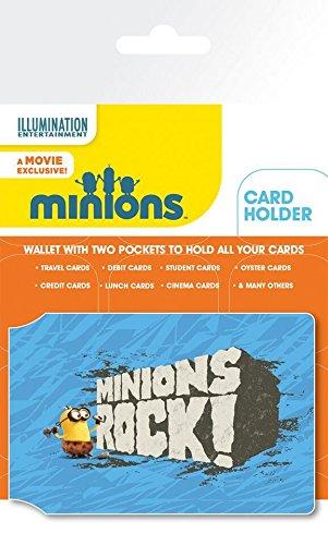 Les Minions Porte-Carte Bancaire Pour Fans - Rock (10 x 7 cm)