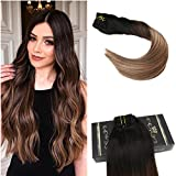 Ugeat 10pcs Balayage Color Extensions Clip in Echthaar 20
