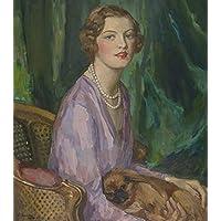 OdsanArt 30,48 cm x 35,56 cm impressionismo ritratti di persone 'Miss Rosemary speranza' by Sir John Lavery, Arte stampe su tela di alta qualità fine R.A.
