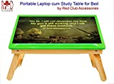 RedClub- Premium Laptop cum Study Table - Indian Army (Foldable, Adjustable Table Top) - Green Colour, with complementary RedClub Pen.