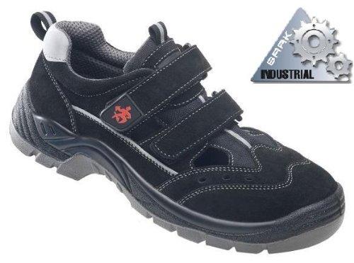 BAAK Sicherheitsschuhe Henry Industrial S1P Sicherheitssandalen BGR191 Größe 41, schwarz, 8424