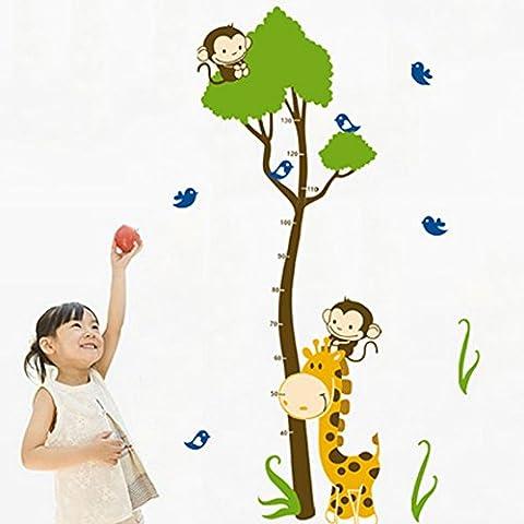 PeiTrade Baum-Giraffen-Höhen-Aufkleber Kinderzimmer-Schlafzimmer-Wand-Aufkleber-Wand-Aufkleber-Kunst-Abziehbild-Zuhause-Raum-Dekor-Büro-WandTapete-Kunst-Aufkleber-Abziehbild-Papier-Wandbild für Hauptschlafzimmer