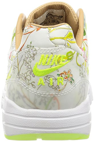Nike Wmns Air Max 1 Ultra Lib Qs, Scarpe sportive Donna Bianco (Blanco (White / White-Vachetta Tan-Volt))