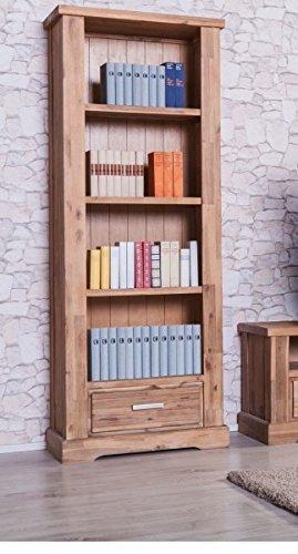 Möbelkultura COL-1Wohnwand tv-schrank, Vitrine Bücherschrank, Holz, braun / grau, 70 x 174 x 200 cm - 2