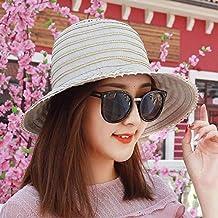 Eeayyygch Sombrero de Mujer Ms Sombrero de Tela Sombrero de Paja Sombrero  de Sol Sombrero Plegable 29ad37de3de