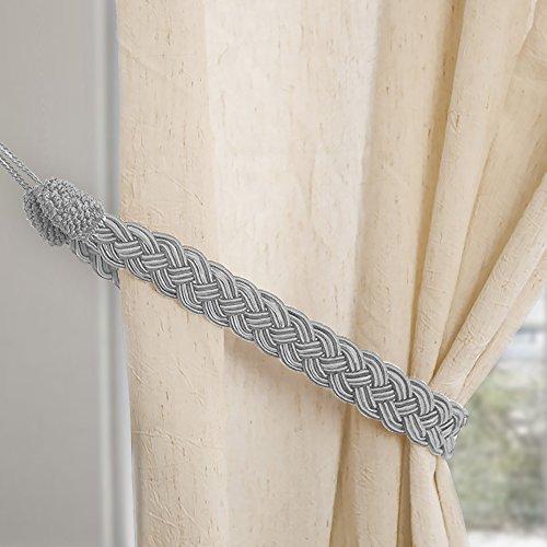 Cortinas de punto Mano atada cuerda simple tipo cortina alzapaños y accesorios
