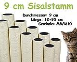 kratzbaumland 9 cm Sisalstamm (Länge: 10-90 cm; Gewinde: M8-M10) Stammlänge - 40 cm, Gewinde - 10 mm -M10-