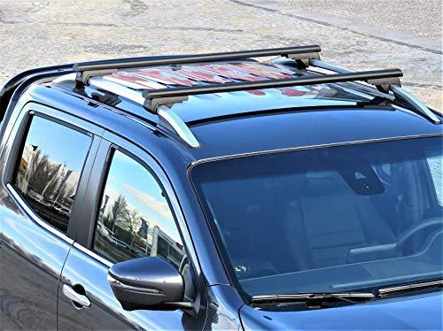Dachträger passend für Mercedes X-Klasse Dachgepäckträger ab Baujahr 2017 aus Aluminium in schwarz 120cm