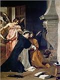 Cuadro sobre lienzo 30 x 40 cm: Die Versuchung des hl. Thomas von Aquin. de Diego Rodriguez de Silva...