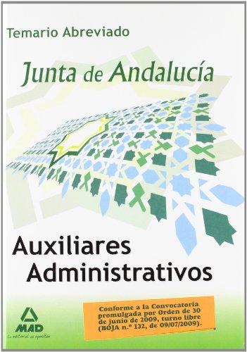 Auxiliares Administrativos De La Junta De Andalucía. Temario Abreviado