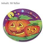 Pappteller Papp Teller Halloween Motiv Kürbis 10STK beschichtete Pappe