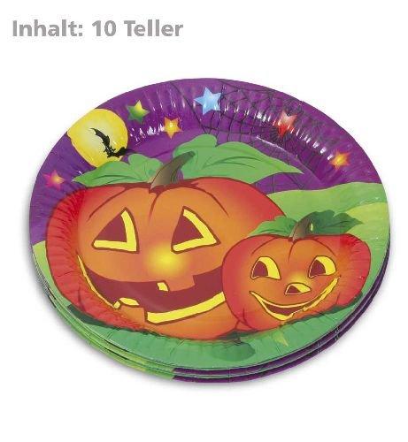 er Halloween Motiv Kürbis 10STK beschichtete Pappe (Monster Hüte Für Halloween)