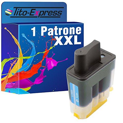 Tito-Express PlatinumSerie 1x Druckerpatrone XXL Cyan kompatibel mit Brother LC900 DCP-115C MFC-1195B MFC-210C MFC-215C MFC-3240 -