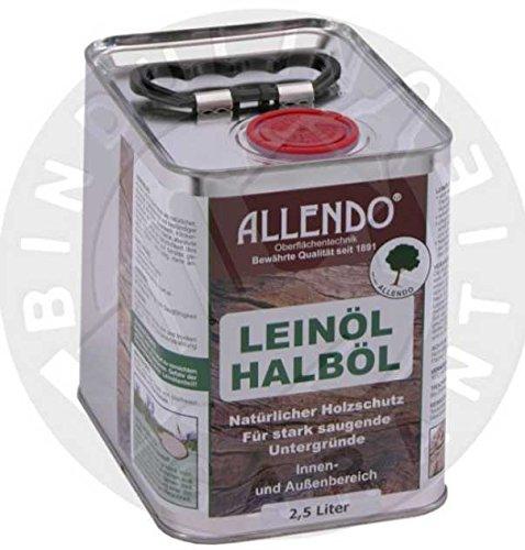 Leinöl - Halböl 2,5 Liter Dose inkl. 4er Pinsel Set